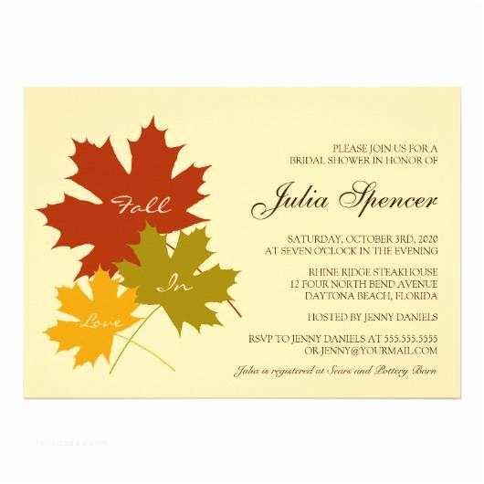 Fall In Love Wedding Invitations Fall Wedding Invitations – Invitations 4 U