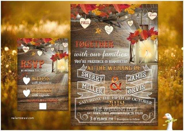 Fall In Love Wedding Invitations Wedding Invitation Response Card 100 Professionally