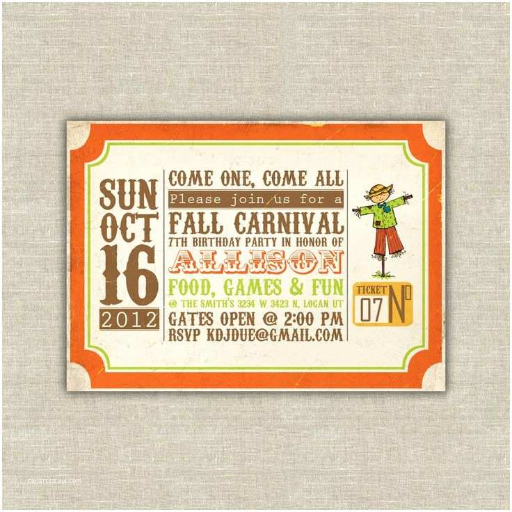 fall party invitation wording