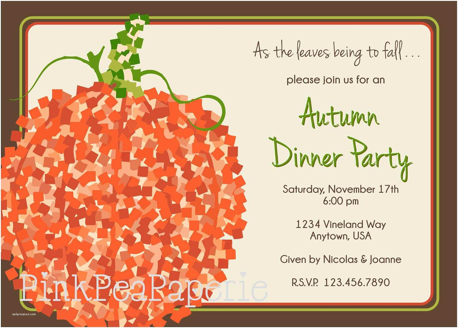Fall Party Invitations Potluck Email Template Best Template U0026 Design Images
