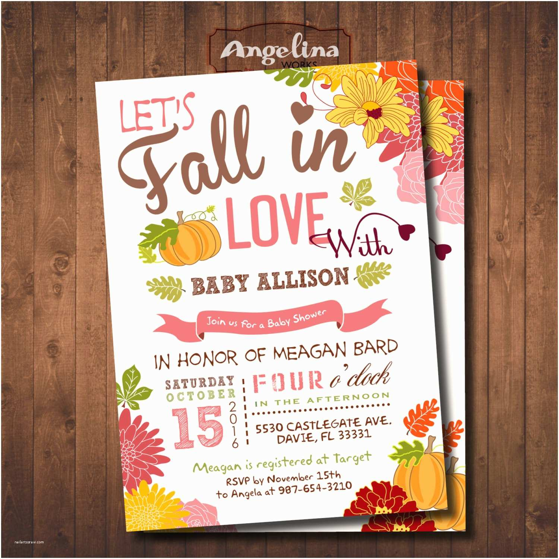 Fall themed Baby Shower Invitations Fall Baby Shower Invitation Little Pumpkin Baby Shower Diy