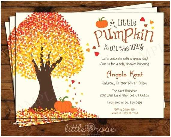 Fall themed Baby Shower Invitations Fall themed Baby Shower Invitations Template Resume Builder