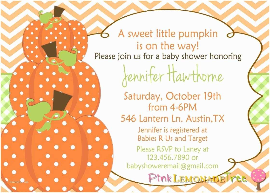 Fall themed Baby Shower Invitations Pumpkin Baby Shower Invitation Autumn Baby Shower Invite