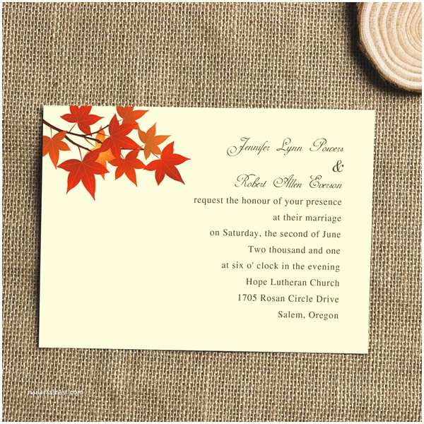 Fall themed Wedding Invitations Cheap Fall Wedding Invitations Cheap Invites at Invitesweddings