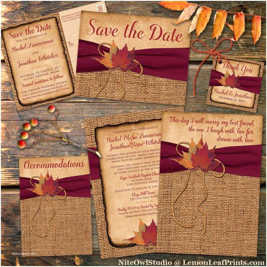 Fall themed Wedding Invitations Cheap Rustic Country Wedding Invitation