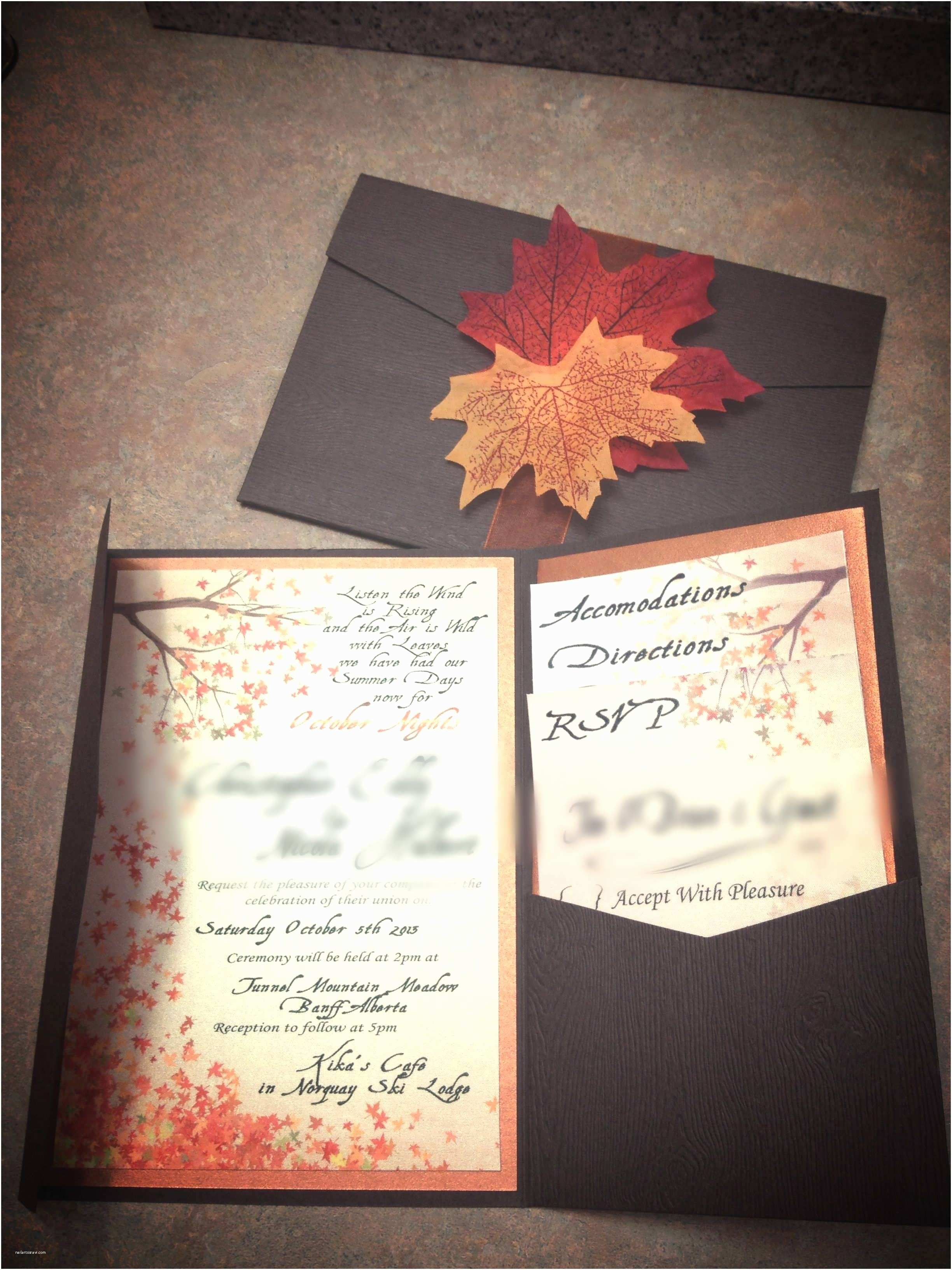 Fall themed Wedding Invitations Cheap Unique Fall Wedding Invitations