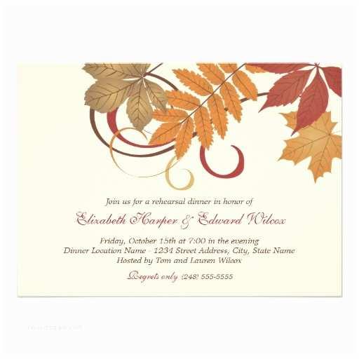 Fall themed Wedding Invitations Outdoor Fall Wedding Rehearsal Dinner Rehearsal Dinner