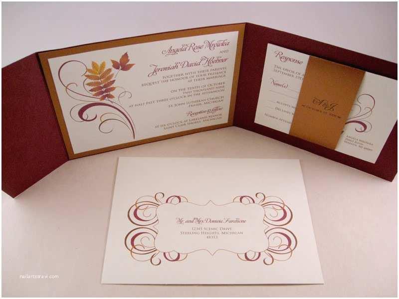 Fall themed Wedding Shower Invitations Beautiful Fall Wedding Invitations with orange Burst