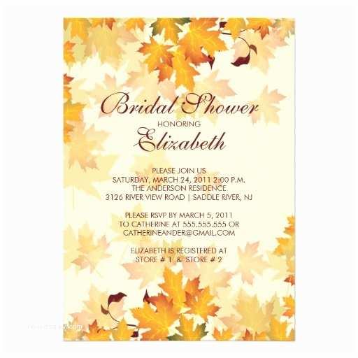 Fall themed Wedding Shower Invitations Bridal Shower Invitations Fall Bridal Shower Invitations Free