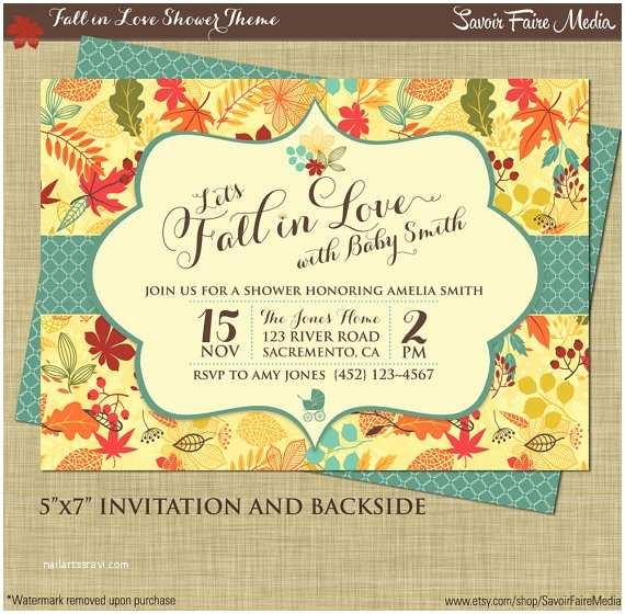 Fall themed Wedding Shower Invitations Fall Baby Shower Invitation Autumn Shower Party Printables