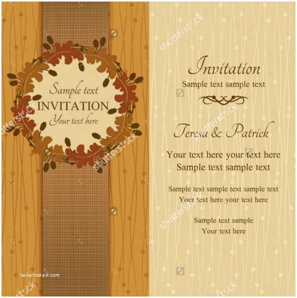 Fall Wedding Invitation Templates 26 Fall Wedding Invitation Templates – Free Sample