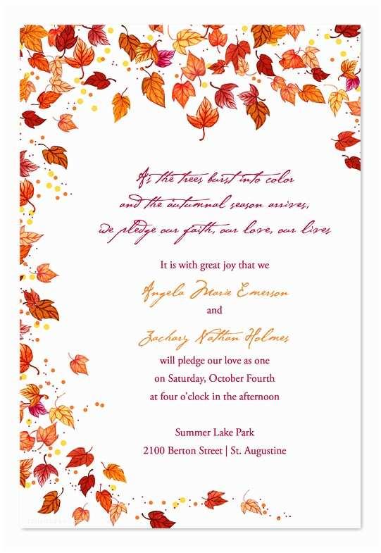 Fall Wedding Invitation Templates Invitation Consultants