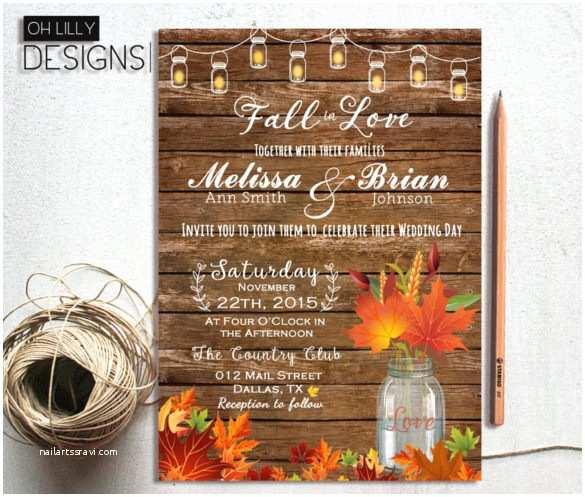 Fall Wedding Invitations 35 Traditional Wedding Invitation Templates – Free Sample