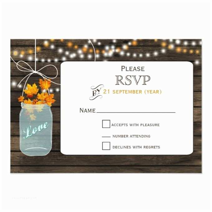 Fall Wedding Invitations and Rsvp Cards 17 Best Images About Fall Wedding Invitations On Pinterest