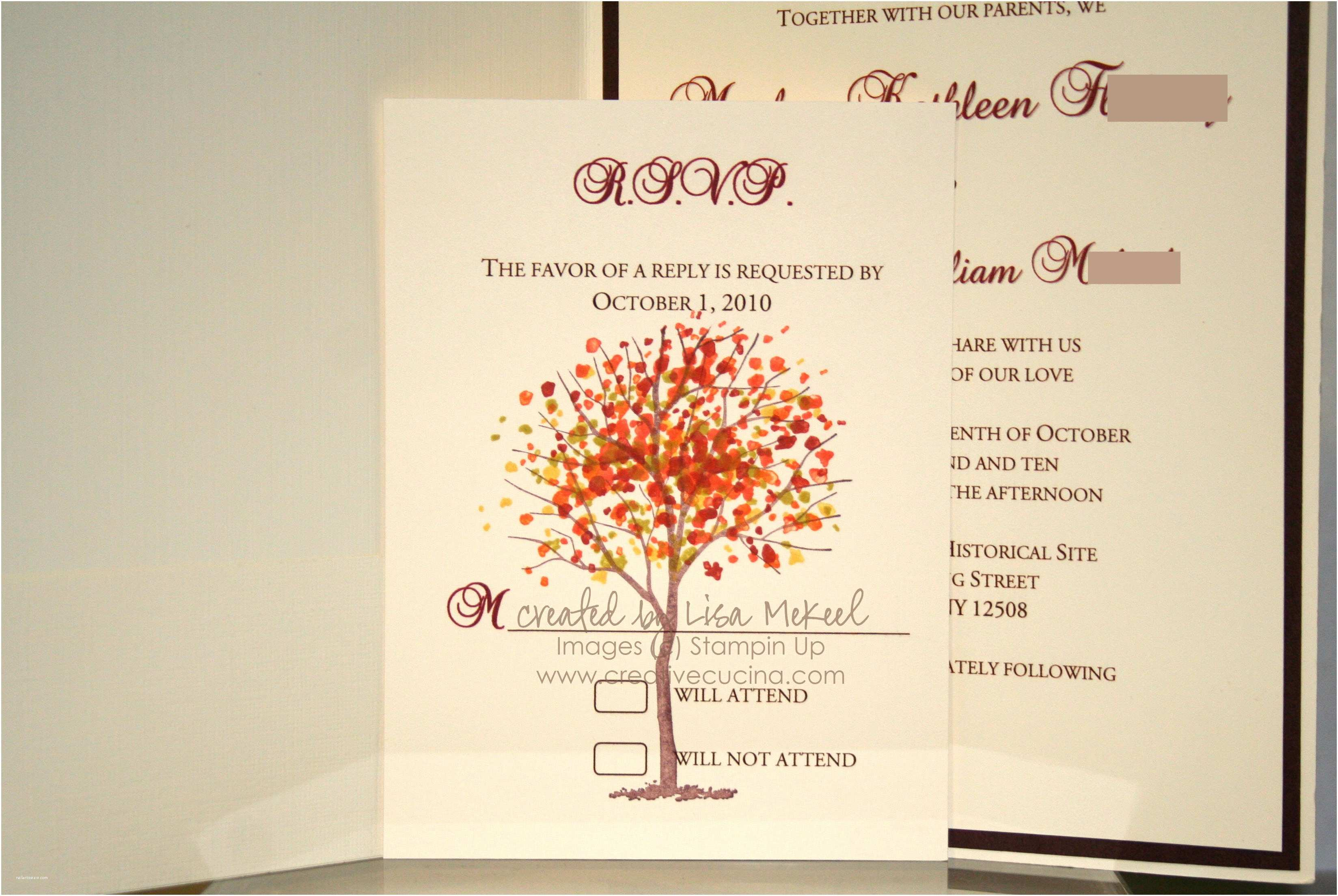 Fall Wedding Invitations and Rsvp Cards Elegant Autumn Fall Wedding Invitations