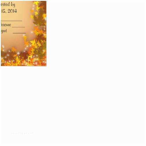 """Fall Wedding Invitations and Rsvp Cards Fall Autumn Wedding Rsvp Response Card 3 5"""" X 5"""