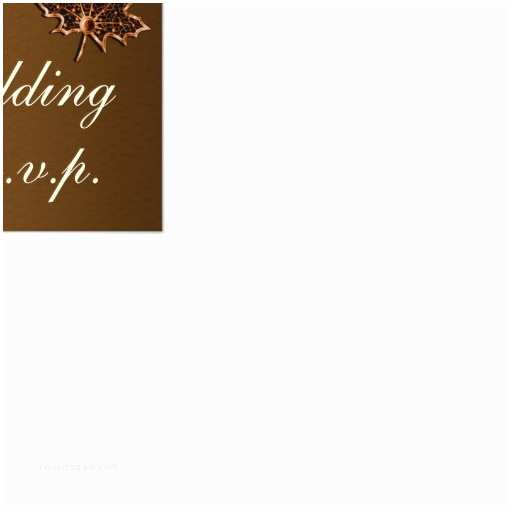 """Fall Wedding Invitations and Rsvp Cards Leaf Gold Chocolate Brown Fall Wedding Rsvp Cards 3 5"""" X 5"""