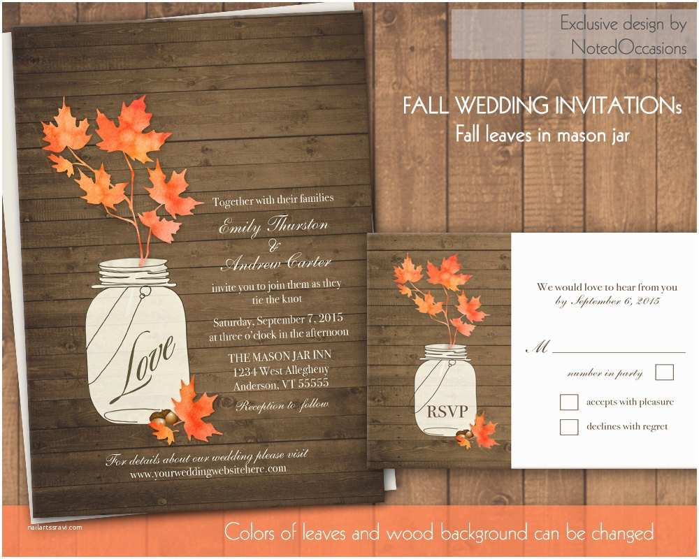Fall Wedding Invitations Chandeliers & Pendant Lights