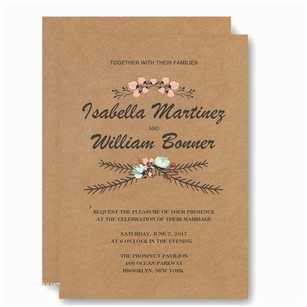 Fall Wedding Invitations Cheap Cheap Rustic Floral Fall Wedding Invitation Wip043