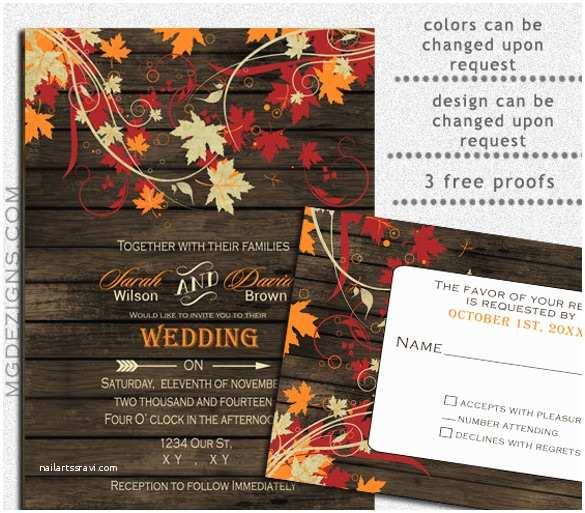 Fall Wedding Invitations Cheap Fall Wedding Invitation Template – 15 Psd