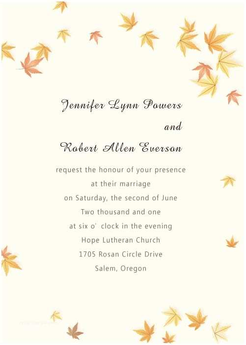 Fall  Invitations Cheap Ivory And Yellow Maple Leaves Fall Affordable