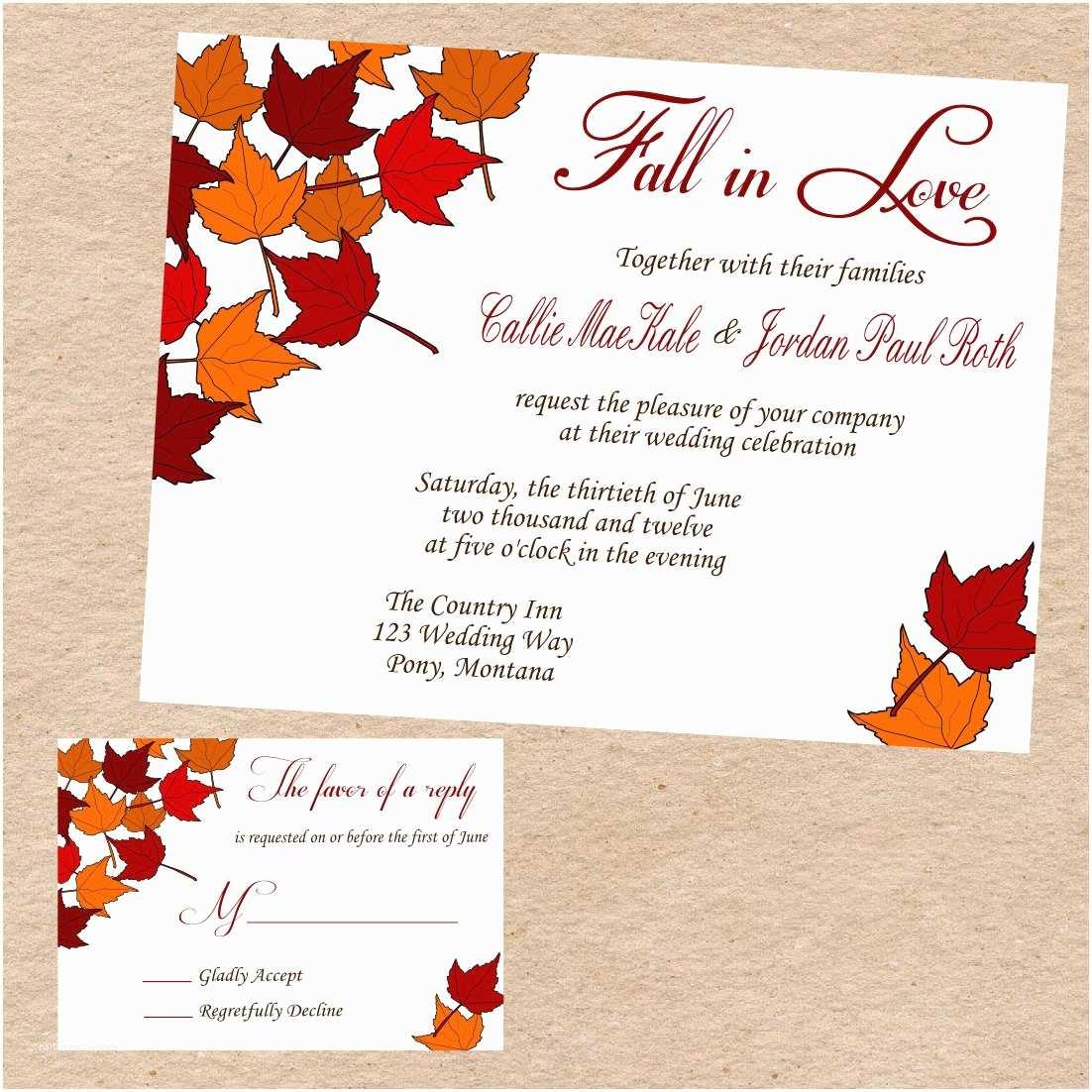 Fall Wedding Invitations Fall Wedding Quotes Quotesgram
