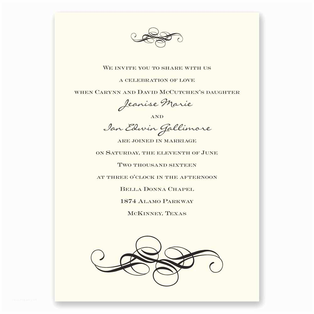 Fancy Address Labels for Wedding Invitations Fancy Flourishes Invitation