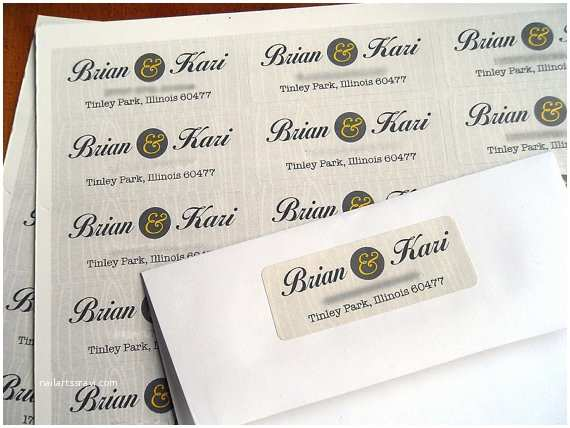 Fancy Address Labels for Wedding Invitations Return Address Labels for Wedding Invitations Sansalvaje