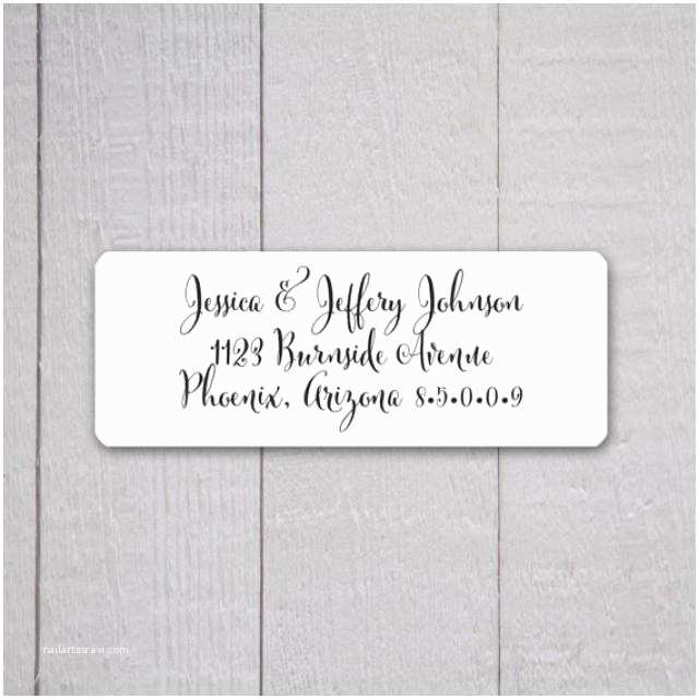 Fancy Address Labels for Wedding Invitations Wedding Invitation Return Address Labels Wedding Stickers