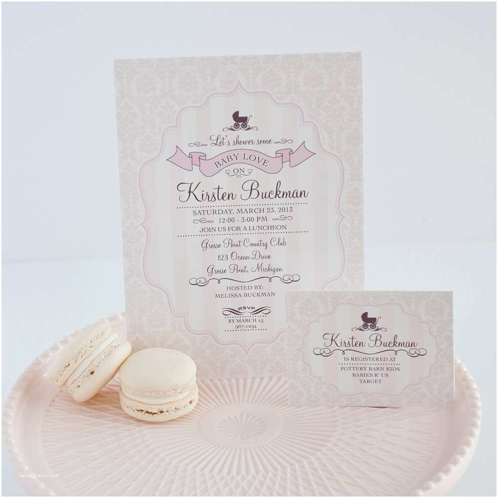 Fancy Baby Shower Invitations Elegant Baby Shower Invitation Various Invitation Card