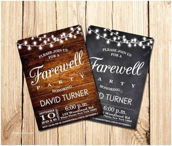 Farewell Party Invitation 12 Farewell Party Invitations Jpg Psd Vector Eps Ai