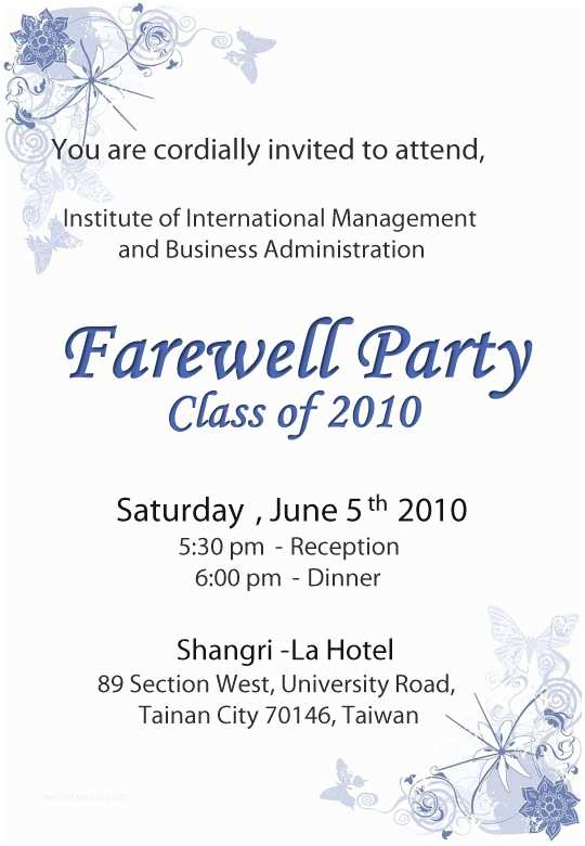 Farewell Party Invitation Farewell Party Invitation