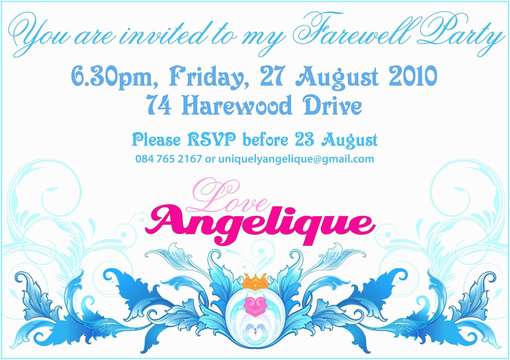 Farewell Party Invitation School Farewell Invitation