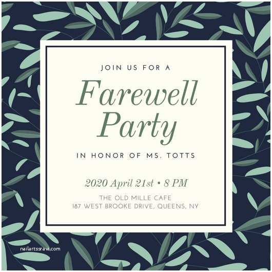 Farewell Party Invitation Template Free Farewell Party Invitation – Gangcraft