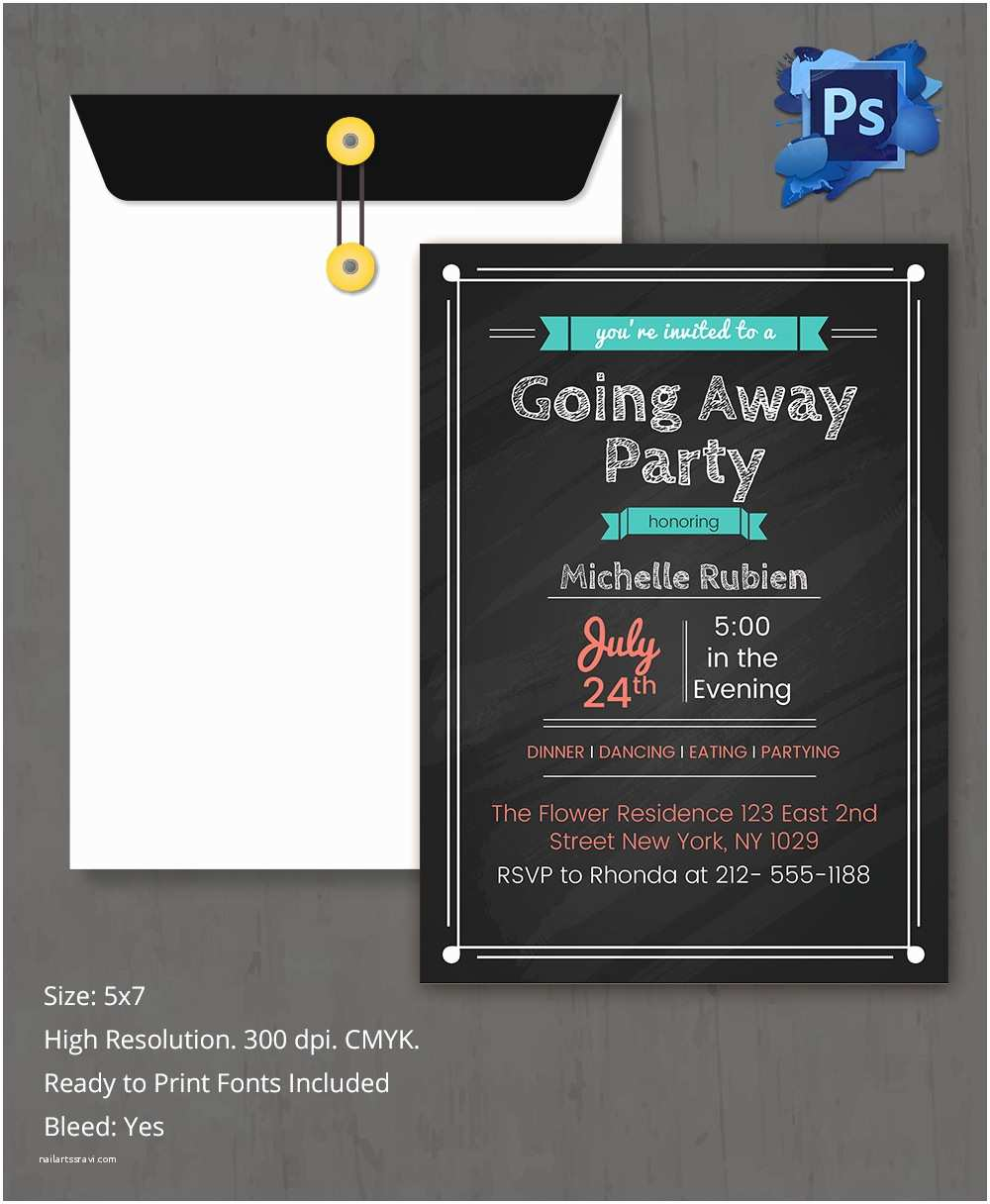 Farewell Party Invitation Template Free Farewell Party Invitation Template 26 Free Psd format