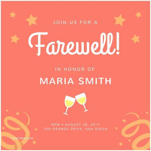 Farewell Party Invitation Template Free Farewell Party Invitation Template – Gangcraft