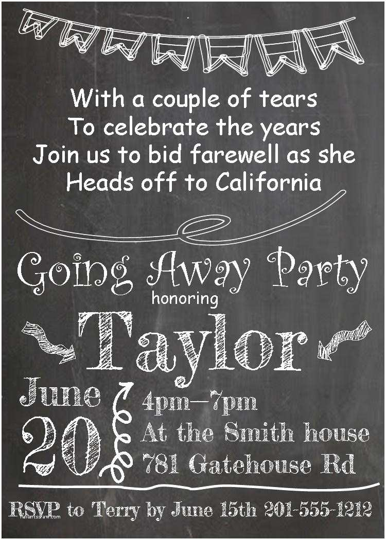 Farewell Party Invitation Template Free Going Away Party Invitations New Selections 2017