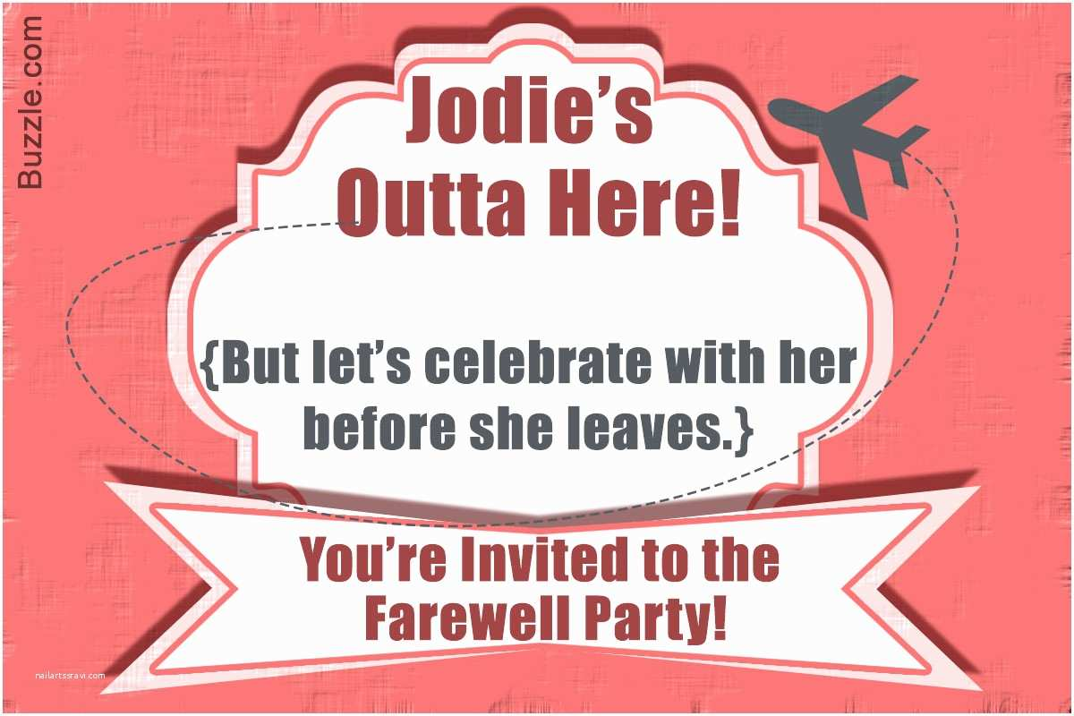 Farewell Party Invitation Wording 10 Farewell Party Invitation Wordings to Bid Goodbye In Style