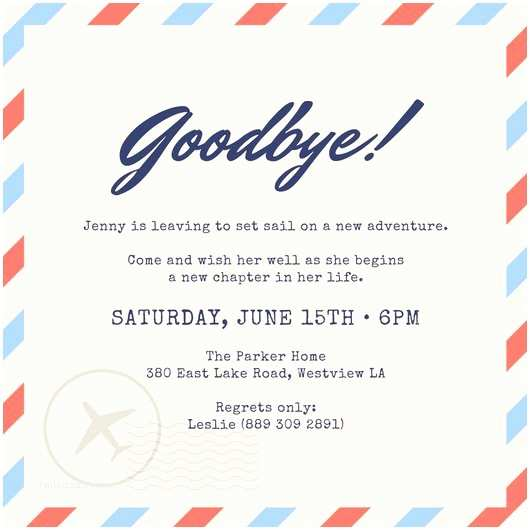 Farewell Party Invitation Wording Farewell Party Invitation Templates Canva