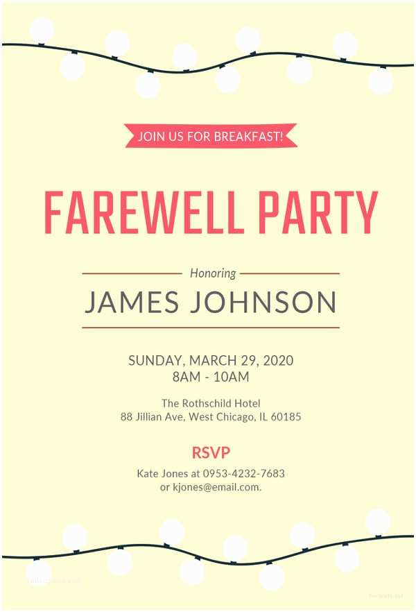 Farewell Party Invitation Wording for the Office 23 Farewell Invitation Template Free Sample Example