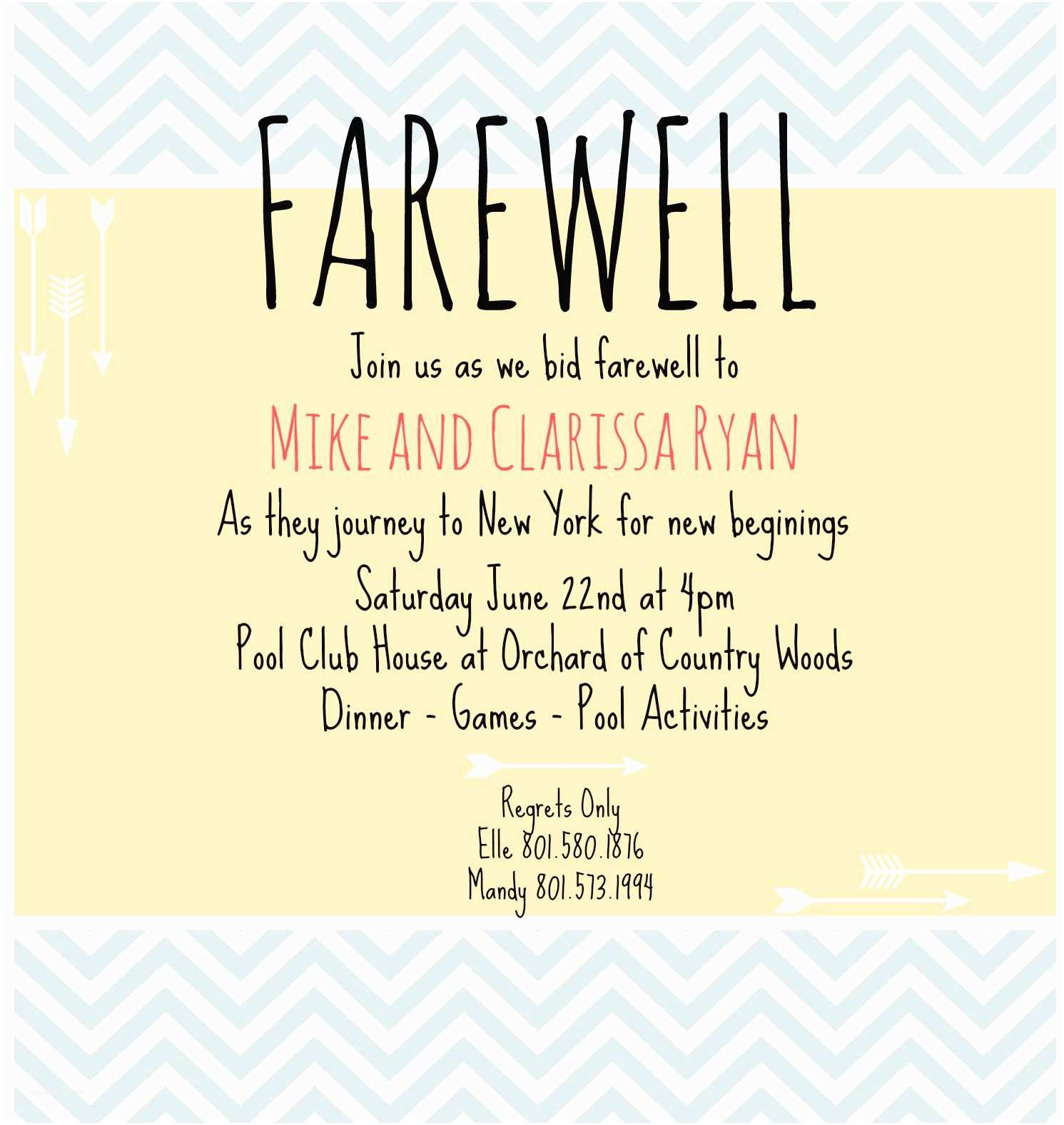 Farewell Party Invitation Wording for the Office Farewell Invite Picmonkey Creations