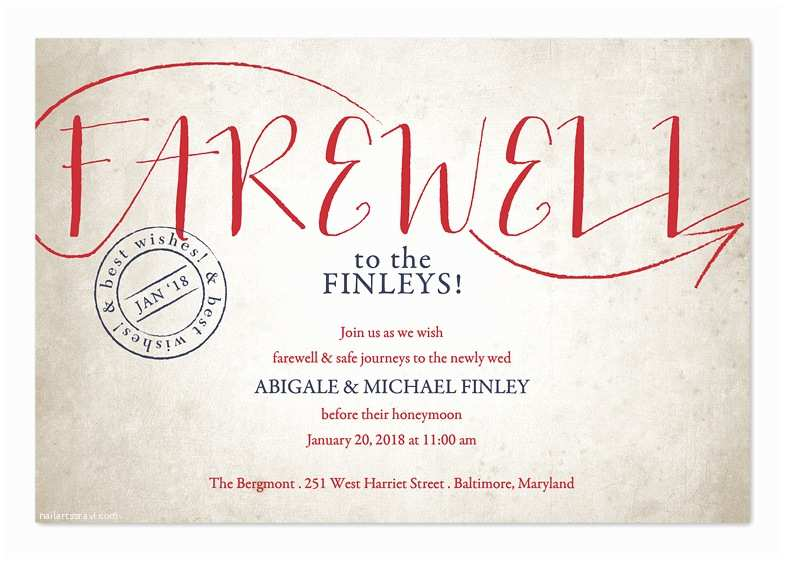 Farewell Party Invitation Wording for the Office Vintage Sendoff Party Invitations by Invitation