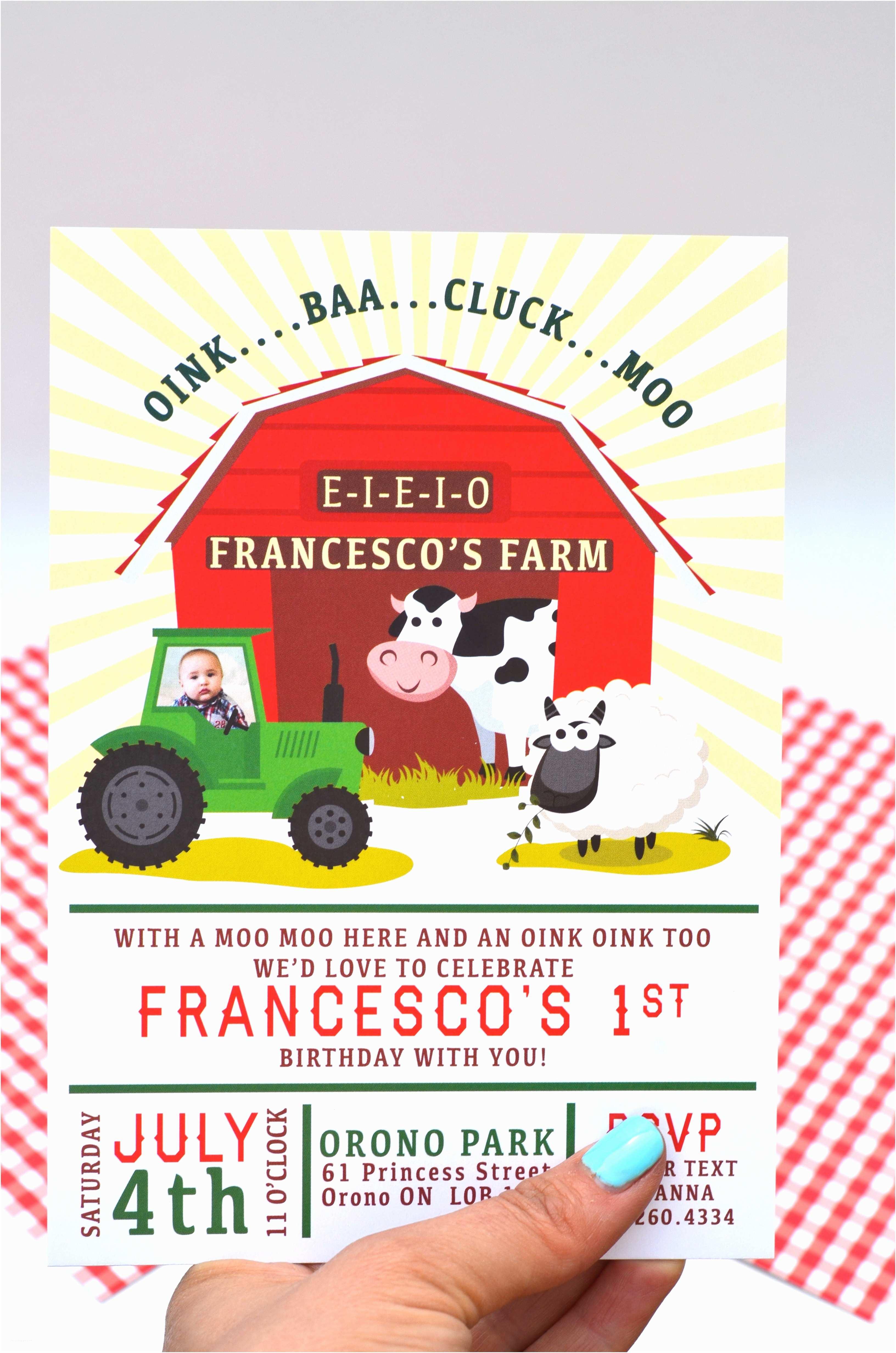 Farm Birthday Invitations Birthday Invite Barnyard Bash Birthday Invitation
