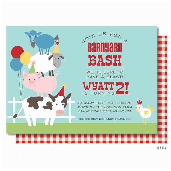 Farm Birthday Invitations Farm Birthday Invitation Barnyard Birthday Invitation Farm