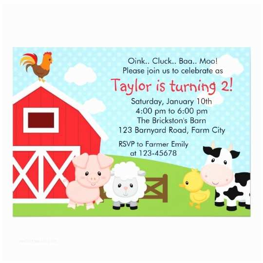 Farm Birthday Invitations Farm Birthday Invitation Boy Blue Barnyard