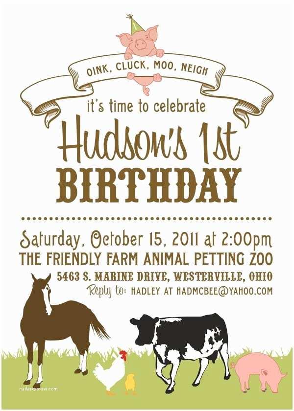 Farm Birthday Invitations Farm Birthday Party Invitations
