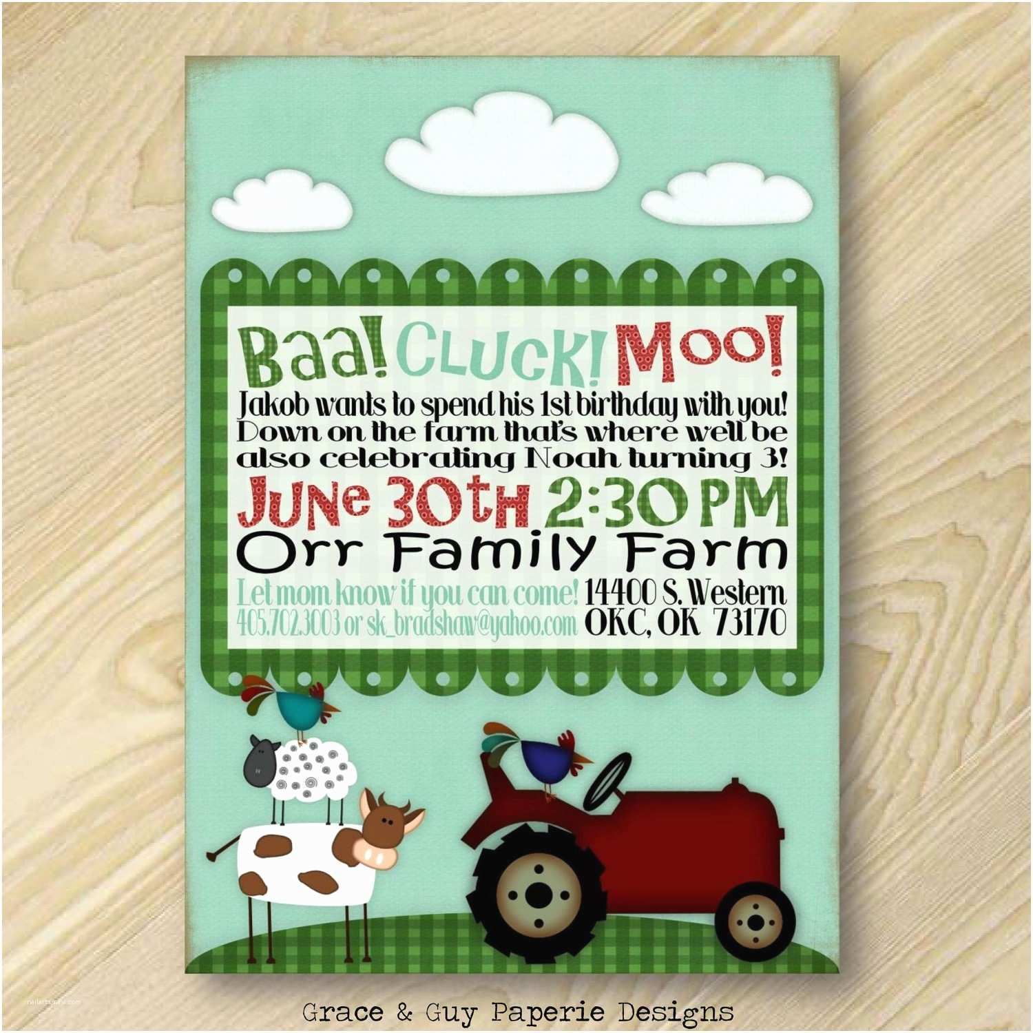 farm birthday party invitations printable barnyard birthday