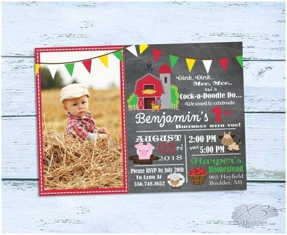 Farm Birthday Party Invitations Printable Barnyard Birthday Invitations 1st