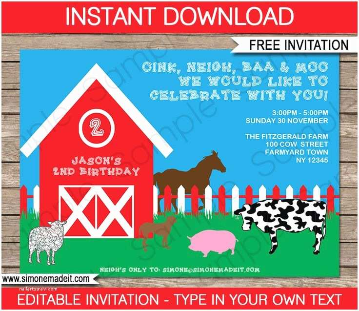 Farm Party Invitations Best 25 Farm Party Invitations Ideas On Pinterest