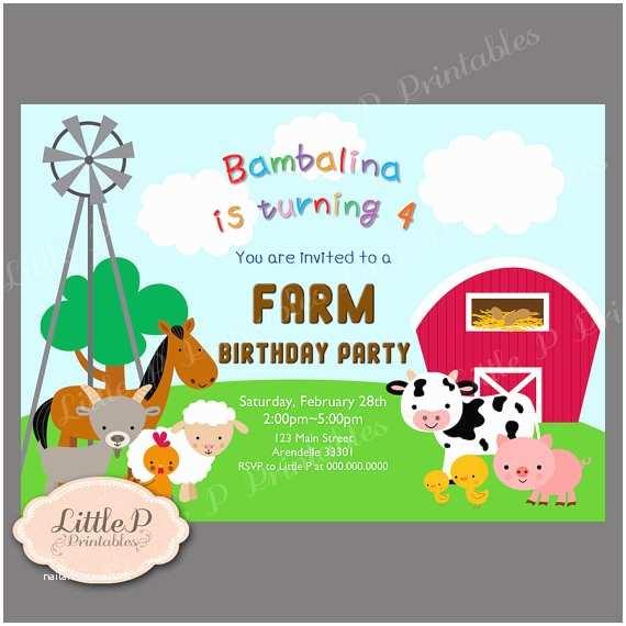 Farm Party Invitations Farm Party Invitation Farm Birthday Invitation Printable